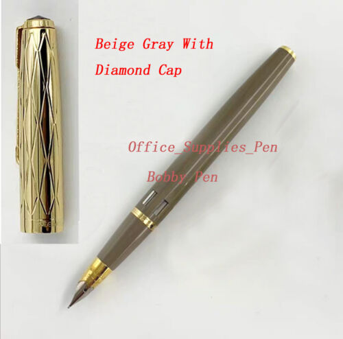 Wing Sung 601A Beige Gray With Ink Window Vacumatic Fountain Pen 5 Caps Optional