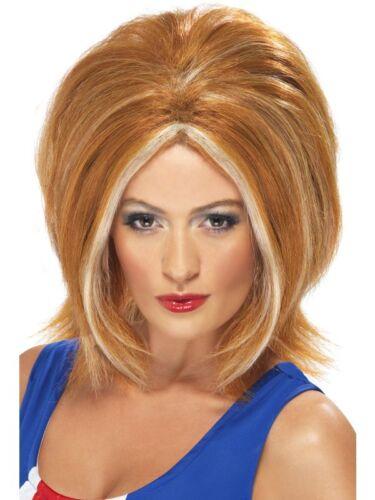 1990/'s Ginger Girl Power Wig Adult Womens Smiffys Fancy Dress Costume