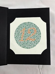 38 PLATE ISHIHARA TEST BOOK COLOR BLINDNESS DR SHINOBU JAPAN with ...