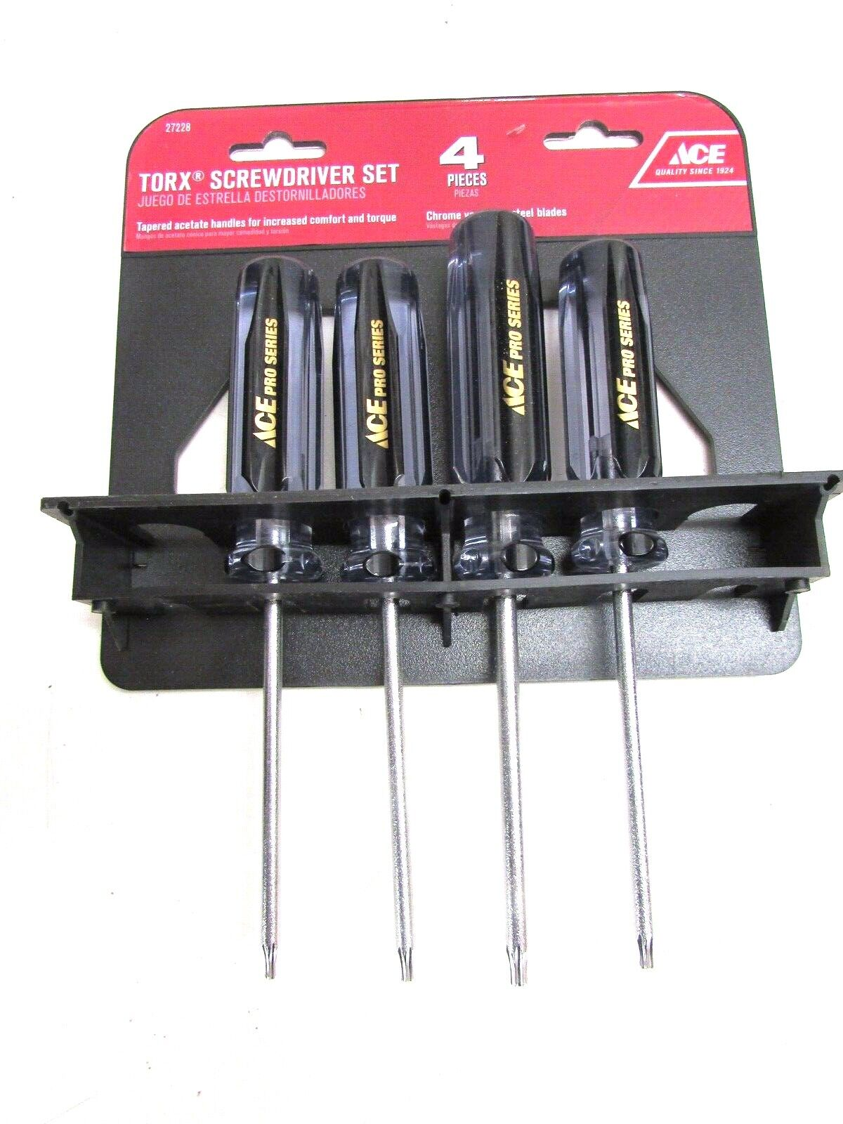 2 Slotted 4-Piece Screwdriver Set 2 Phillips ACE Screwdrivers 28876