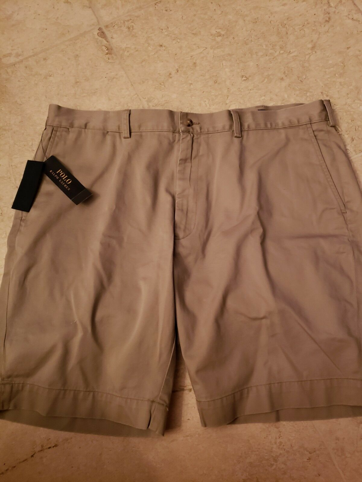 a254574954 POLO LAUREN MEN'S KHAKI HUDSON TAN FLAT FRONT SHORTS 9 INSEAM 40 NWT RALPH  ndnhjo19285-Shorts