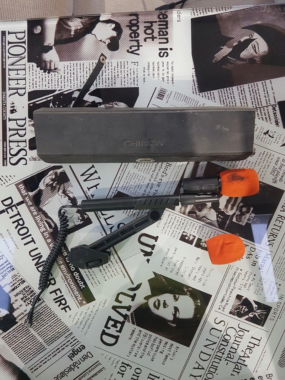 Vintage / Retro CHINON Direct Sound Telescopic Microphone In Black Boxed - H60