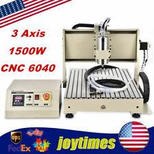 Usb 3 Axis 6040 Cnc Router Engraver Desktop 3d Cut Milling Machine 1500w Vfd