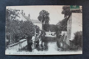Tarjeta-Postal-Antigua-Nemours-Les-Petits-Zanjas-Y-Sully