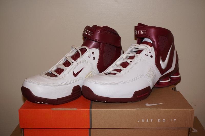 ... Nike Shox TB Elite TB Shox Mens Basketball Shoes - White Maroon abf22d  ... 0f2230ccc
