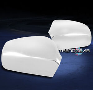 For 2007 2011 Toyota Camry Side Mirror Covers Chrome Left Right Set