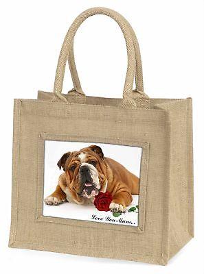 Bulldog + Rose' Liebe, die sie Mama 'Große natürliche jute-einkaufstasche Chris,