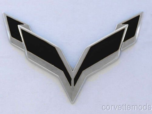 Blackouts C7 Corvette Stingray//Z06 2014 Front//Rear Flag Emblem Overlay Sets