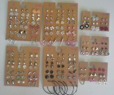 Lot of 111 Pairs of Studs Hoops  and Dangle Earrings Hypo Allergenic New #2