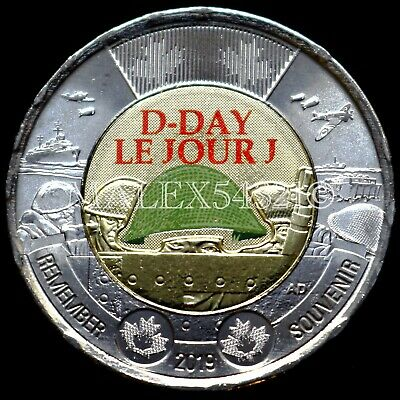 2019 Brilliant Uncirculated Canadian two dollar D-Day Canada $2 Painted
