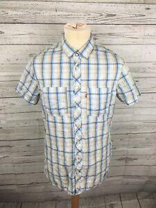 Men-039-s-Levi-Shirt-Size-Medium-Check-Great-Condition