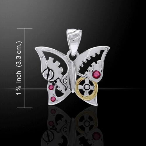 Butterfly Steampunk .925 Pendentif en argent sterling par Peter Stone