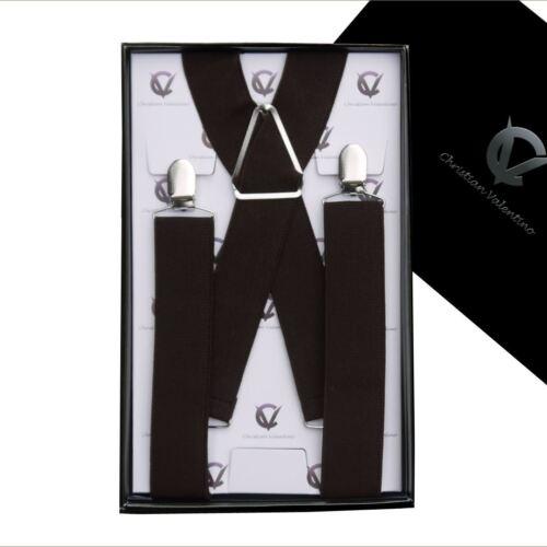 Men/'s Dark Brown X3.5cm Extra Large Braces  Mens Suspenders