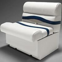Premium 28 Pontoon Boat Seats In Ivory Blue