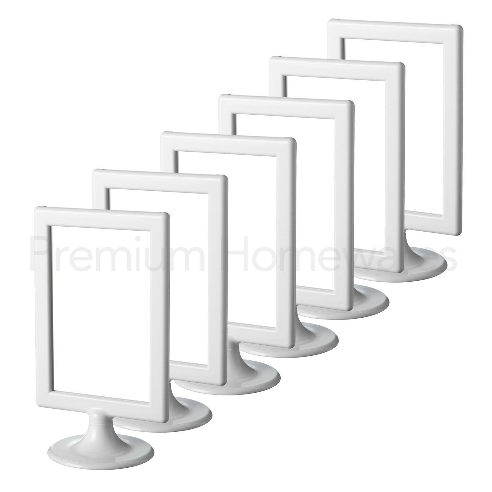 6x IKEA TOLSBY Double-Sided White Gloss Plastic Picture Frames ...