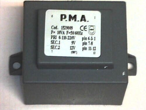 ██ printtrafo Prim 110//220V SEC 9V+12V 10VA P.M.A 1529009 Transformer Transformer