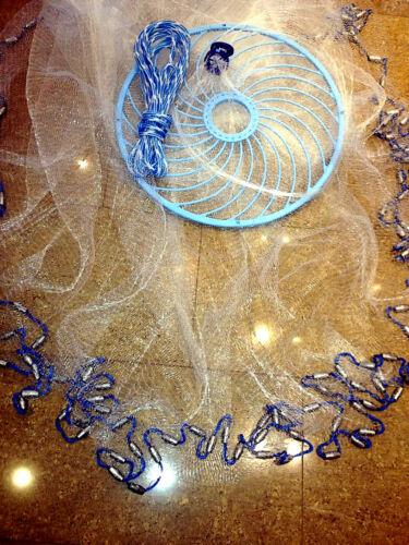 Zubehör Nr.37,Angelnetz,Cast Net Kescher & Netze Neustes Wurfnetz  mit 4,88m,Fischnetz,Top Preis!