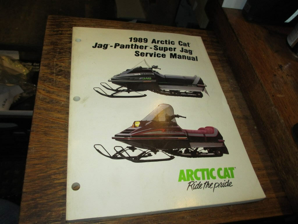 Arctic Cat Snowmobile Factory 1989 Jag Panther Super Jag Service Manual 2254-496