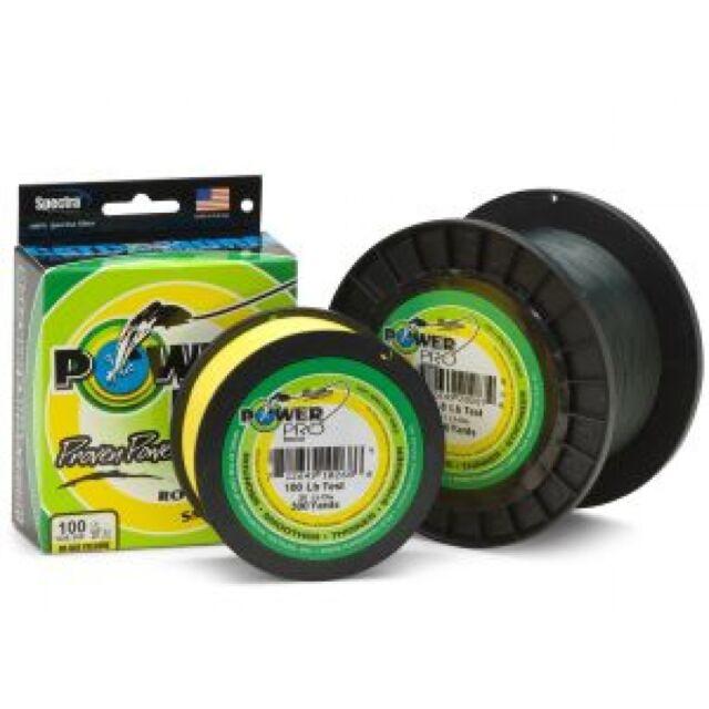 PowerPro Spectra Super 8 Slick Braid Line HiViz Yellow-Pick Line Test//Spool Size