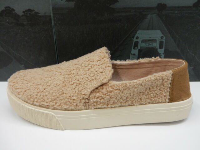 c52ba2e7f06 Toms Womens Sunset Slip-ons Light Brown Faux Shearling Size 7 for ...
