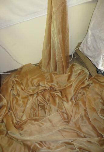 """1M  Cationic Chiffon two tone antiqe gold  SOFT  DRESS CHIFFON FABRIC 58/"""" WIDE"""