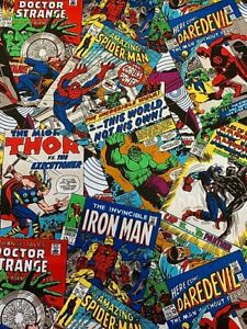 Marvel-Avengers-Comic-Book-Complete-Fabric-Material
