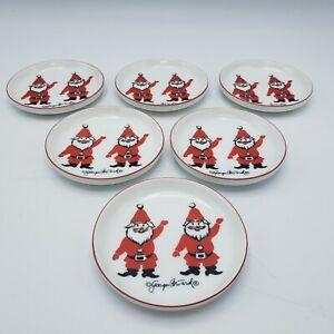 Set-of-6-Vintage-Georges-Briard-Santa-Coasters