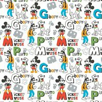 Camelot Disney Mickey Mouse Clubhouse Poly Fleece Fabric Yardage 60 Wide D1