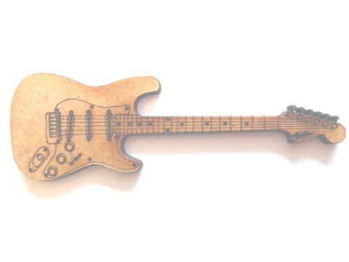 10x en bois guitare électrique fender strat cadeau carte artisanat scrapbook embellishment