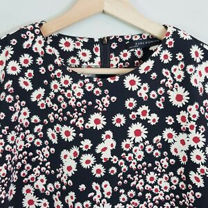 ZARA-Womens-Floral-Print-Cropped-Top-As-New-Size-L-or-AU-14-US-10