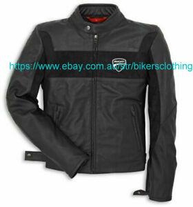 Ducati Racing Biker Motorbike Leather Jacket Motorcycle Leather Jackets CE