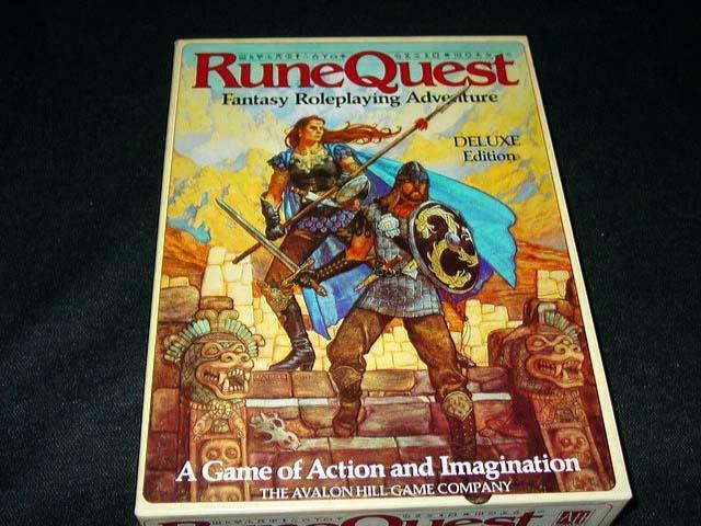 Avalon Hill   RUNEQUEST - Fantasy Role Playing - Deluxe Edition 3rd Ed  Chaosium