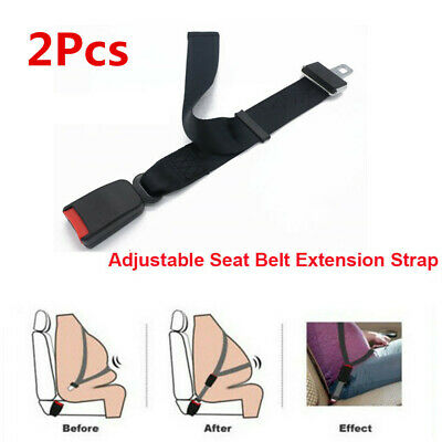 2x Universal Adjustable 80cm Car Seat Safety Belt Extender Extension 7 8 Buckle Ebay