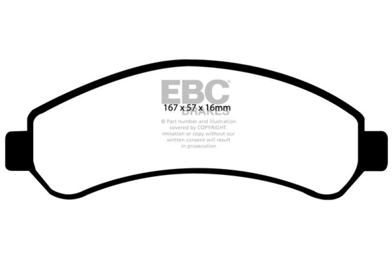 EBC Brakes UD031 Ultimax OEM Replacement Brake Pad