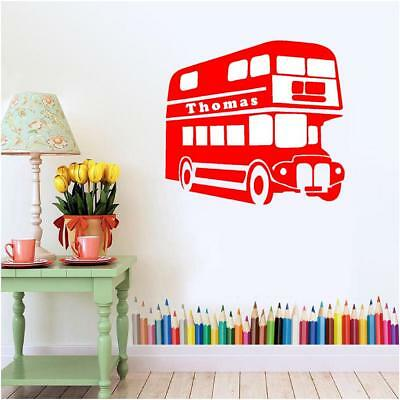 Affidabile Personalised Double Decker London Bus Ragazzi Camera Da Letto Wall Art Murale Decalcomania Sticker-
