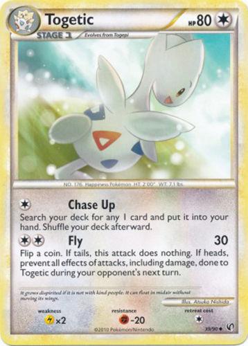 Togetic 39//90 HS Undaunted Uncommon PERFECT MINT Pokemon