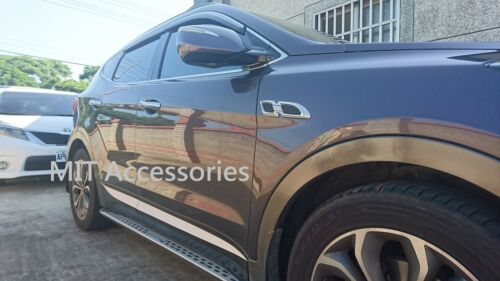 MIT for Hyundai Santa Fe 2013-on Side body fender molding trim chrome chrome