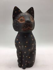 LOT of 35 Hand Crafted Painted Bobble Head Cat Cats Indonesia New