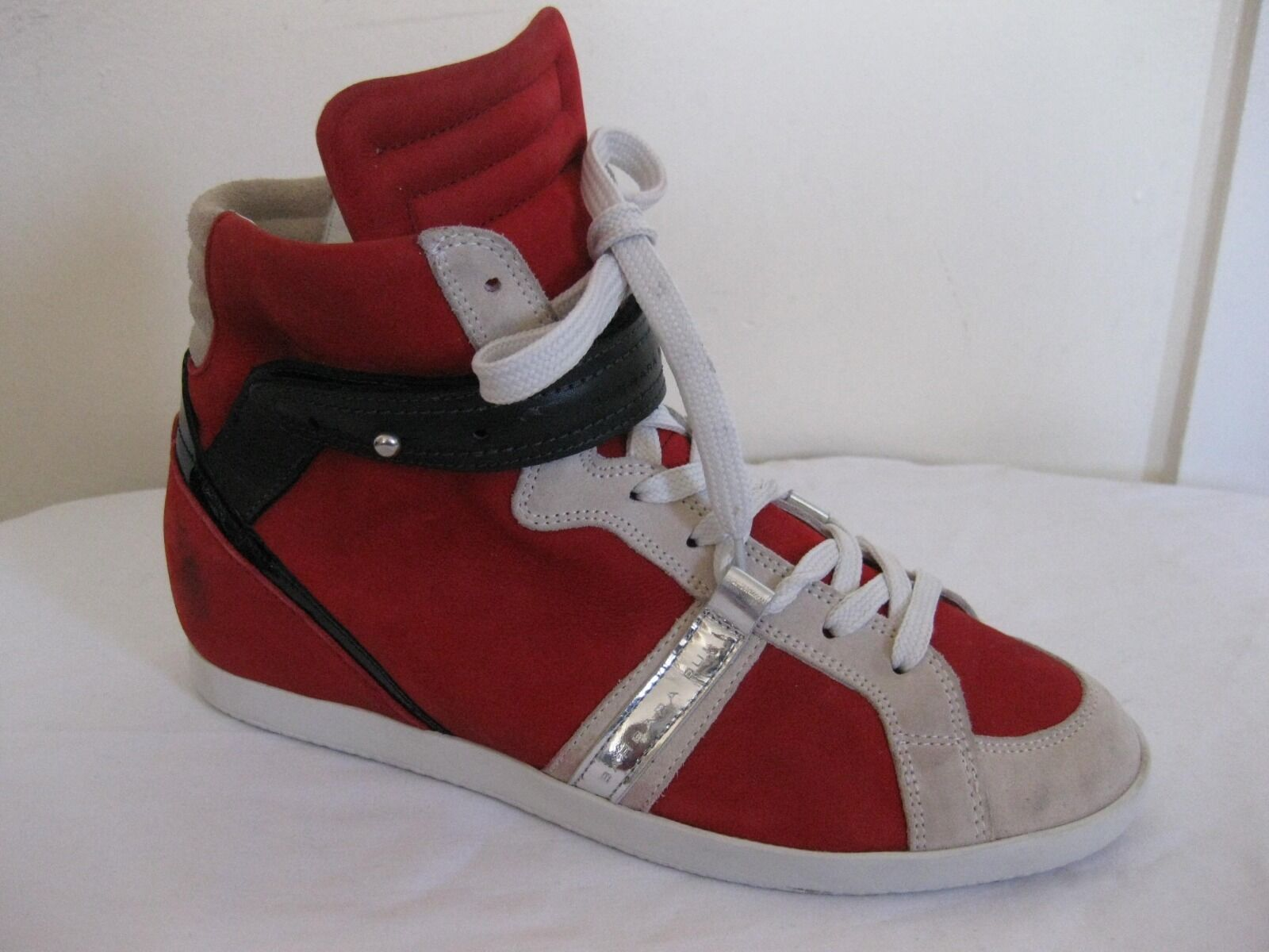 Barbara Bui Leather  High Top Fashion Sneakers Shoes Size US 9.5