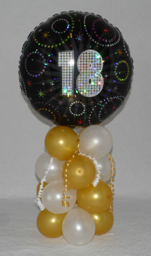 FOR BOTH FOIL BALLOON DISPLAY AGE 18 18th BIRTHDAY TABLE CENTREPIECE