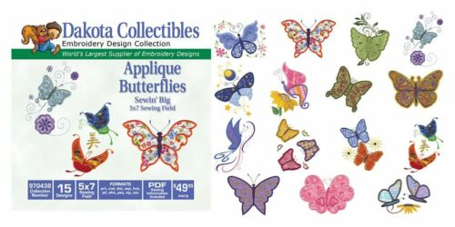 Applique Butterflies 970438 Dakota Collectibles Embroidery Machine Design CD