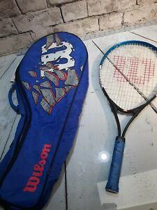 Wilson Tennis Racquet Full Cover Case Racket Protection Black Shoulder Straps