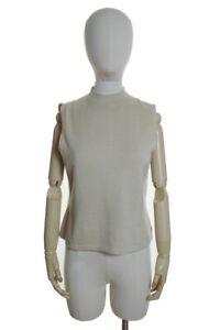 ST JOHN Santana Knit Turtleneck Back Zip Knit Top Size Small