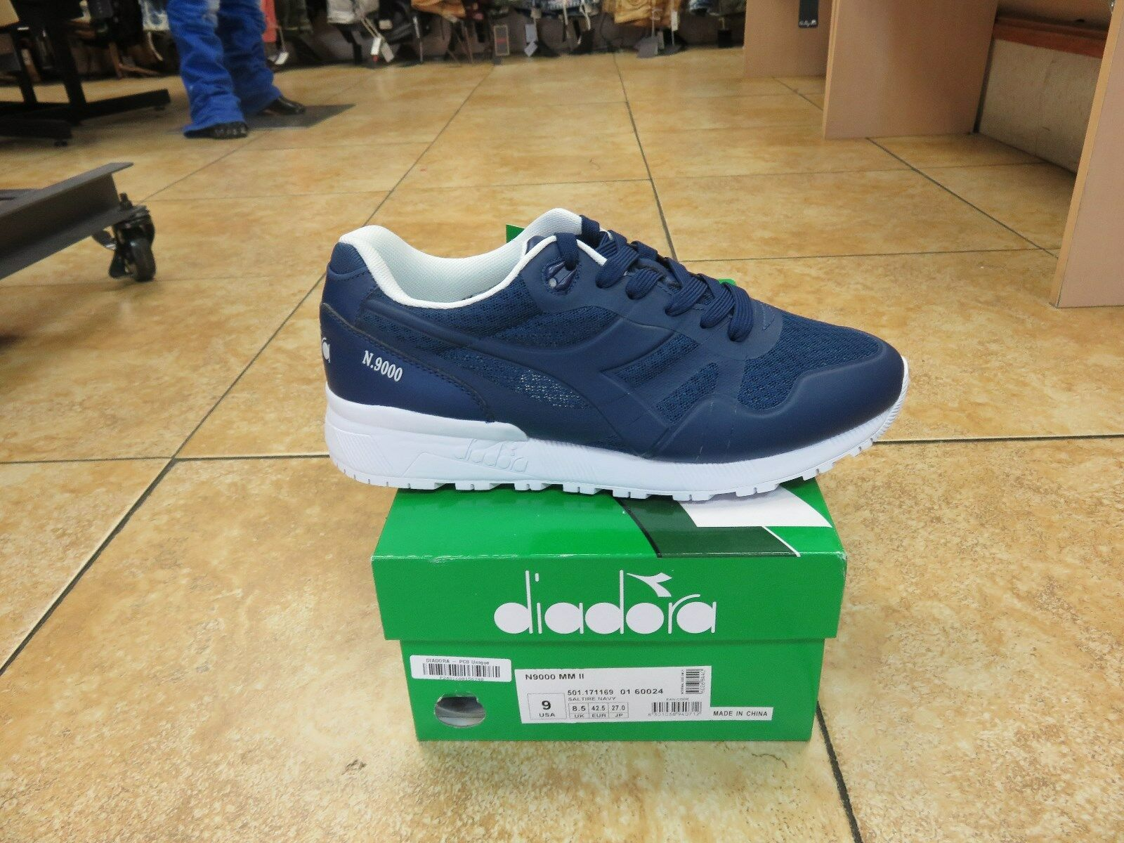 DIADORA N9000 SALTIRE NAVY BLUE MEN SHOES *NEW RELEASES* ALL SIZES