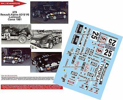 DECALS 1//43 REF 0819 PORSCHE 911 THERIER TOUR DE CORSE 1981 RALLYE RALLY WRC