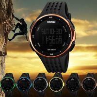 Mens Waterproof Date Digital Sports Wrist Watch Army Military Fashion LED Quartz