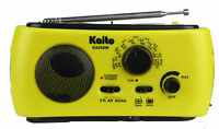Kaito Ka332w Weather Radio With Am/fm Flashlight Solar And Crank Power Yellow