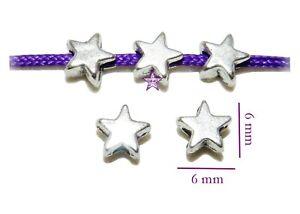 80-Estrellas-entrepiezas-6mm-agj-1-5mm-plata-tibetana-abalorios-beads-star