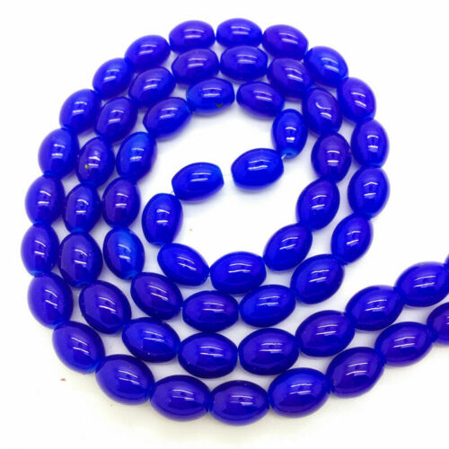 6x8mm Glass Pearl Oval Spacer Loose Beads Jewelry Making
