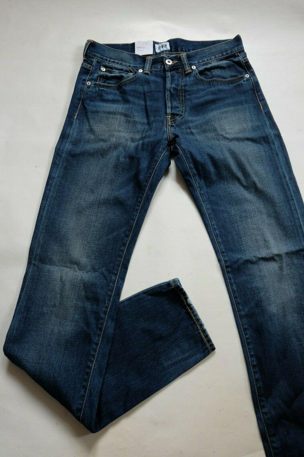 Jeans Edwin Ed 80 Slim ( Deep Blau Schmutz Dirt Gewaschen) W30  | Flagship-Store